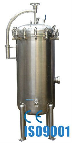 Hydraulic High Pressure Water Filter Housing , Cylindrical New Filter Housing