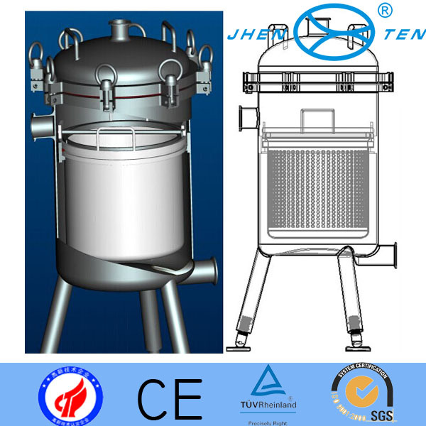 Prefilter Stainless Steel Basket Type Filter With Silicone Gasket