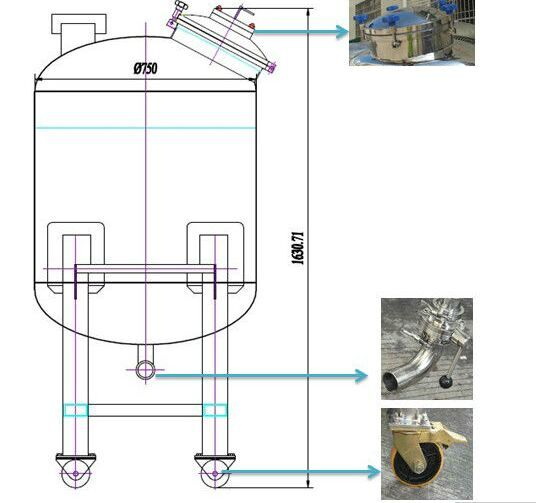 Movable Stainless Steel Storage Tank , Poly Water Storage Tank Supplier