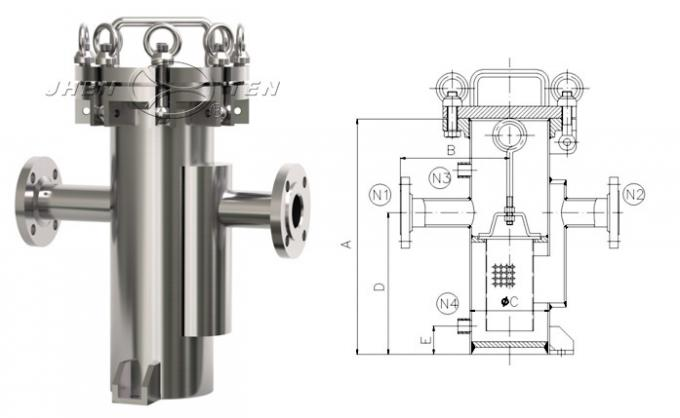 Stainless Steel Basket Strainer SS304 / SS316L Basket Filter Housing