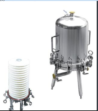 Lenticular Disk Filter Stainless Fermentation Tank for Beer Water Beverage , Easy To Clean