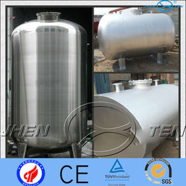 China Asme Horizontal Stainless Steel Pressure Vessel Tank  Mirror Matt supplier