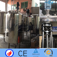 China 316L Sliver Sanitary Stainless Steel Mixing Tank  With Scraper 5.5kw supplier