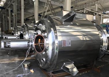China Silver Color Stainless Steel Mixing Tank , Sanitary Mixing Tank With Agitator supplier