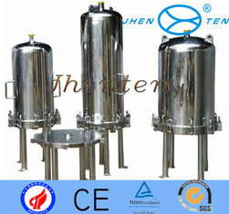 China Wine making equipment ss inline filter housing cartridge with Flange supplier