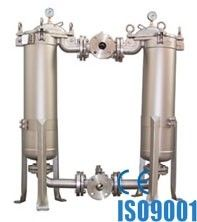 China Stainless Steel Duplex Bag Filter Housing For Liquids Filtration supplier