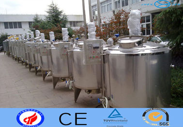 China 3 Layer Stainless Steel Mixing Tank / Conical Bottom Tank With Electric Heat supplier