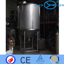 China Hygienic Stainless Fermentation Tank Three Layer With Coil Jacket supplier