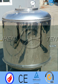 China Aseptic Tank Stainless Steel Pressure Vessel  Pure Water Alcohol / Juice factory