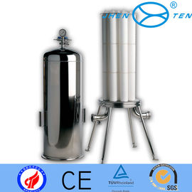 "China 3 - 6 Cartridge Sanitary Filter Housing Water Filter Housings For 10"", 20"", 30"", 40"" factory"