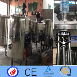 China 316L Sliver Sanitary Stainless Steel Mixing Tank  With Scraper 5.5kw distributor