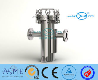 China Large flow Stainless Steel Basket Strainer SS304 / SS316L Basket Filter Housing distributor