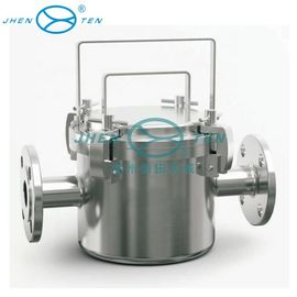 China Food / beverage Industrial Filter Housing stainless steel magnetic fluid pipe filter housing distributor